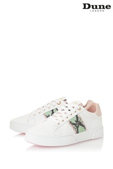 Dune London Animal Elsie Reptile Lace Bumper Sole Trainers