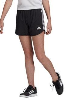 Черные шорты с 2 полосками adidas