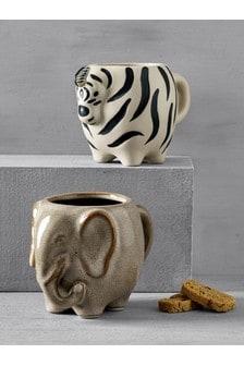 Set of 2 Safari Mugs