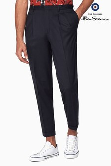 Ben Sherman Navy Midnight Structure Relax Trouser