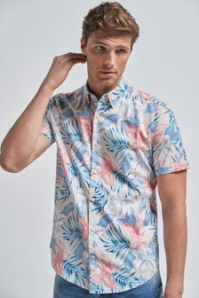 Short Sleeve Hawaiian Floral Shirt