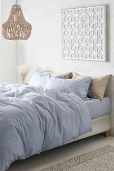 Komplet pościeli bawełnianej Washed: poszwa na kołdrę i poszewki na poduszki