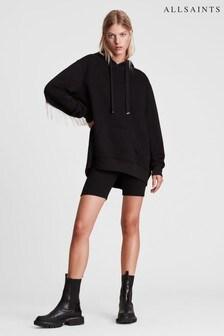 AllSaints Black Giselle Chain Hoodie