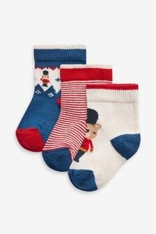 3 Pack Bear Socks (Younger)