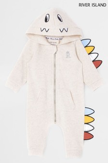 River Island Blue Baby Monster All-In-One