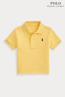 قميص بولو أصفر بشعار منRalph Lauren