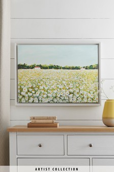 Artist Collection Daisy Field Canvas by Janet Bell