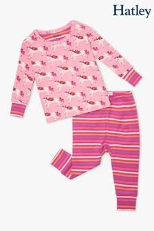 Hatley Baby Geblümtes Pyjamaset aus Biobaumwollemit Einhornmotiv, Pink