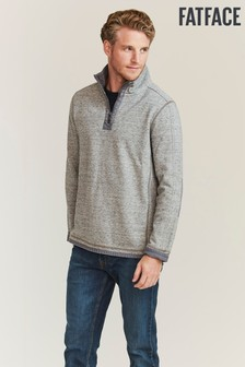 FatFace Grey Airlie Textured Sweat Top