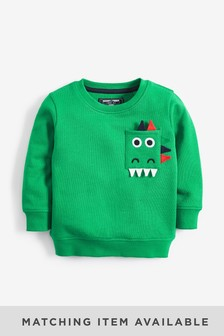 Dino Pocket Crew Neck Sweater (3mths-7yrs)