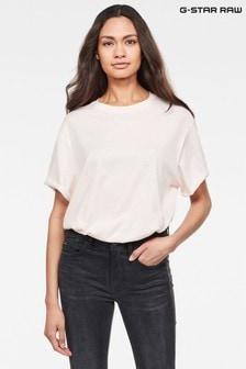 חולצת טי רפויה של G-Star מדגם Lash בוורוד