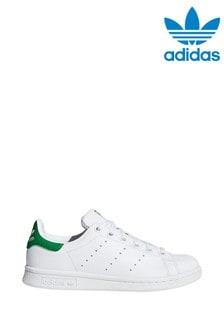 Бело-зеленые кроссовки adidas Originals Stan Smith Youth