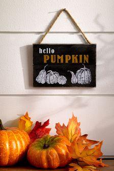 Halloween Hello Pumpkin Wall Art