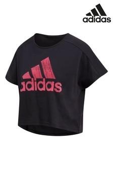 Чернаяспортивная футболкаadidasID
