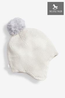 כובע דוב עם פונפון לתינוק בצבע שמנת של The Little Tailor
