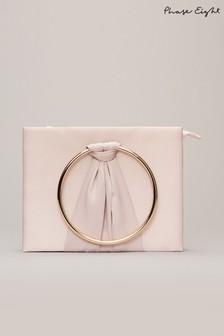 Phase Eight Pink Rhia Ring Clutch Bag