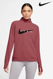 Nike Curve Swoosh Run Midlayer Sweat-Top