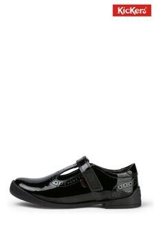 Kickers® Black Birdie Brogue Shoes