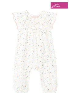 Joules White Lexie Jersey Romper