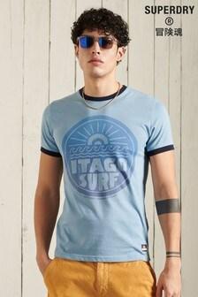 Superdry Cali Surf Graphic Ringer T-Shirt