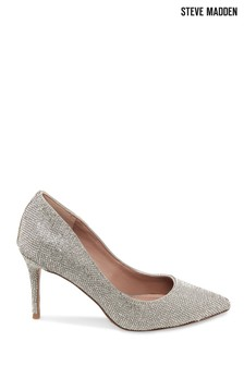 Steve Madden Silver Lillie Crystal Shoes