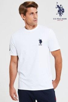 U.S. Polo Assn. T-Shirt mit großemDoppelreiter-Motiv