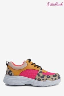 Billieblush Pink Leopard Print Trainers