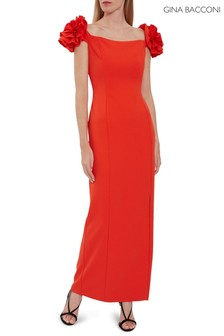 Gina Bacconi Ivalo Crepe Maxi Dress