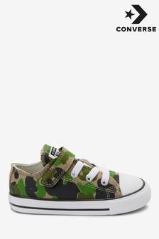 Zapatillas de deporte de bebé con diseño de camuflaje y velcro de Converse