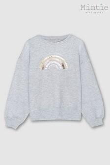 Mint Velvet Grey Foil Rainbow Sweatshirt