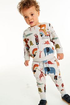 All Over Print Jersey Crew And Joggers Set (3mths-7yrs)