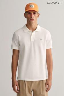Gant素色凸紋標誌Polo衫