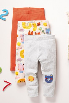 3 Pack Fun Character Leggings (3mths-7yrs)