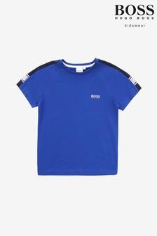 Tmavomodré tričko BOSS
