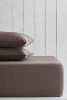 Taupe Natural Cotton Rich Extra Deep Fitted Sheet