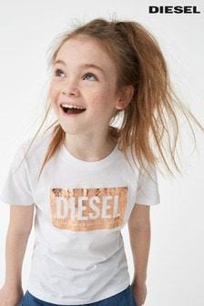 Diesel® Kids燙金標誌T恤