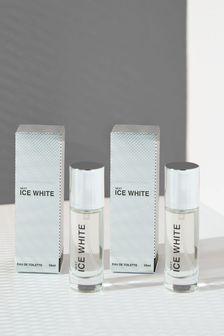 Set of 2 Ice White 10ml Eau De Toilette