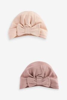"""Набор из 2 шапочек """"тюрбан"""" (Младшего возраста)"""