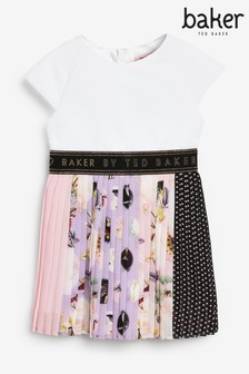 Vestido con falda plisada deBaker by Ted Baker