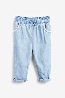 Хлопчатобумажные брюки с отделкой кроше на карманах (3 мес.-7 лет)