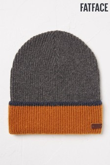 FatFace Brushed Turn-Up Beanie Hat