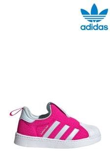 Розовые кроссовки для малышей adidas Originals Superstar 360