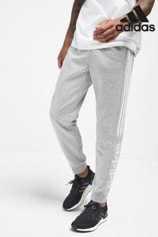 adidas Linear joggingbroek in grijs met kleurvlakken