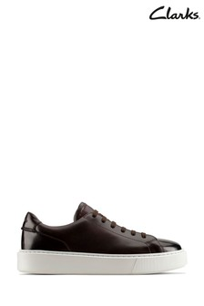 Clarks Brown Leather Hero Lite Lace Shoes