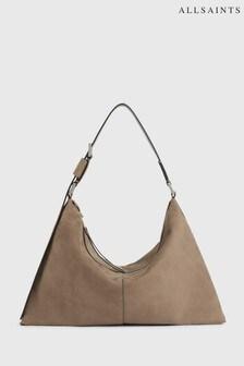 AllSaints Brown Edbury Suede Shoulder Bag