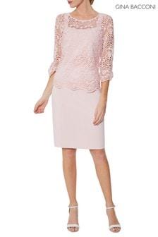 Gina Bacconi Pink Kehlani Dress And Overtop