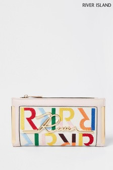 River Island Cream Embroidered Bag