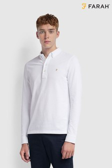 Farah Long Sleeved Pique Poloshirt