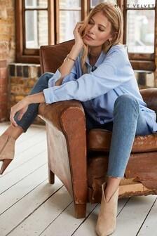 חולצת אוברסייז כחולה עם כיס של Mint Velvet