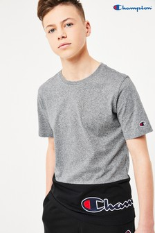 Champion Colourblock Crew Neck T-Shirt With Oversized Script Logo